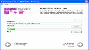 Access Database Recovery Assistant