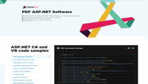 ASP. NET C# PDF Software