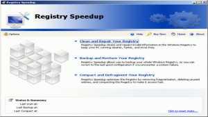 Registry Speedup