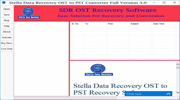 Recover OST File to PST