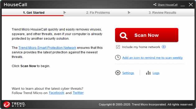 HouseCall Free Online Security Scan PC