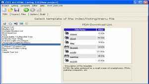 Art HTML Listing