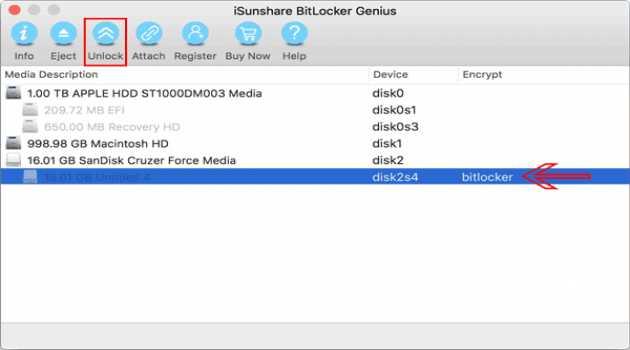 iSunshare BitLocker Genius