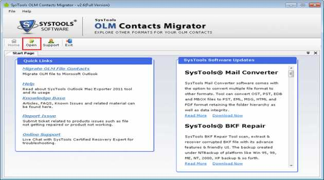 SysTools OLM Contacts Migrator