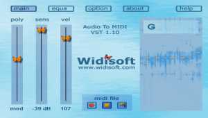 Audio To MIDI VST (MAC)