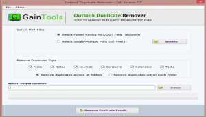 GainTools Outlook Duplicate Remover
