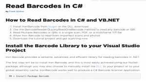 Read Barcode in C#