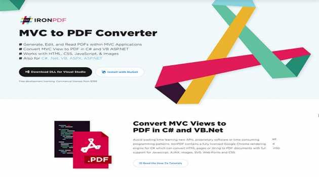 MVC to PDF Converter