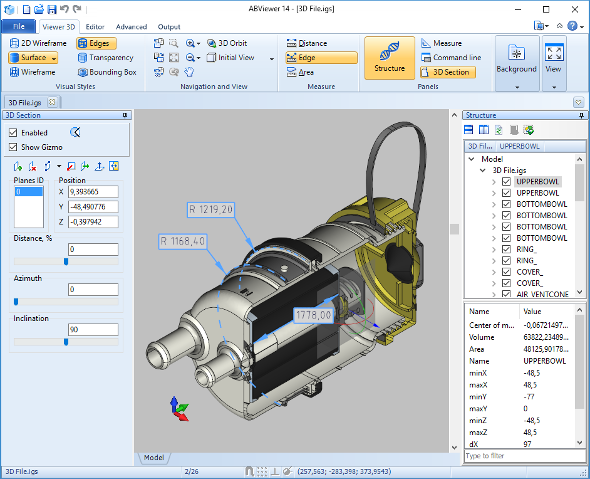 STL Viewer / ABViewer 14 - Software to view and measure 3D files