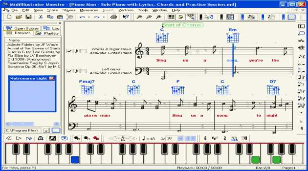 MidiIllustrator Music Notation Software