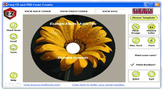 Easy CD & DVD Cover Creator and Disc Label Maker