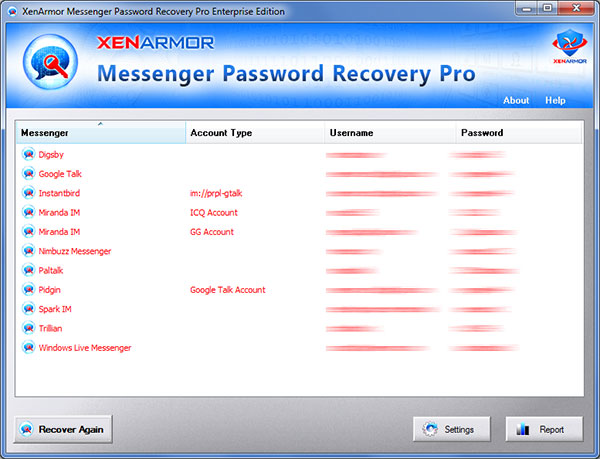Messenger Password Recovery Pro 2020