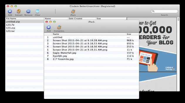 Cisdem BetterUnarchiver for Mac
