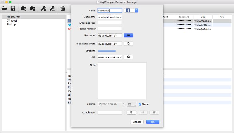 KeyWrangler Password Manager for Mac