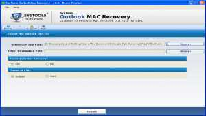SysTools Outlook Mac Recovery