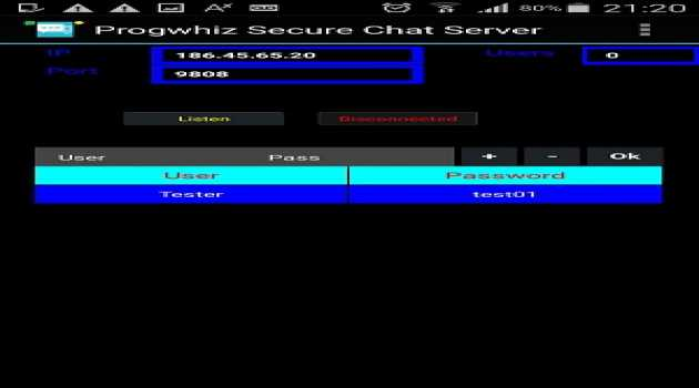 Progwhiz Secure Chat Server for Android
