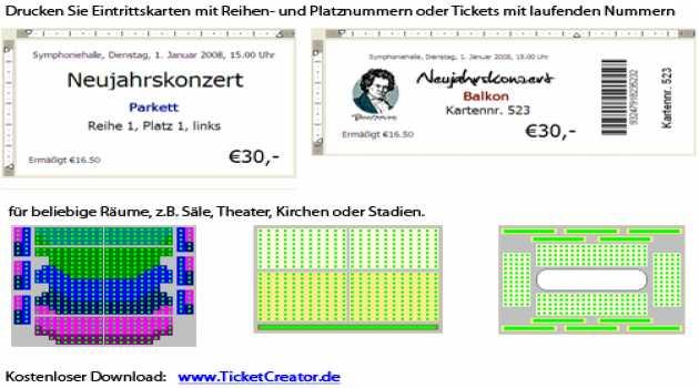 TicketCreator - Eintrittskarten drucken