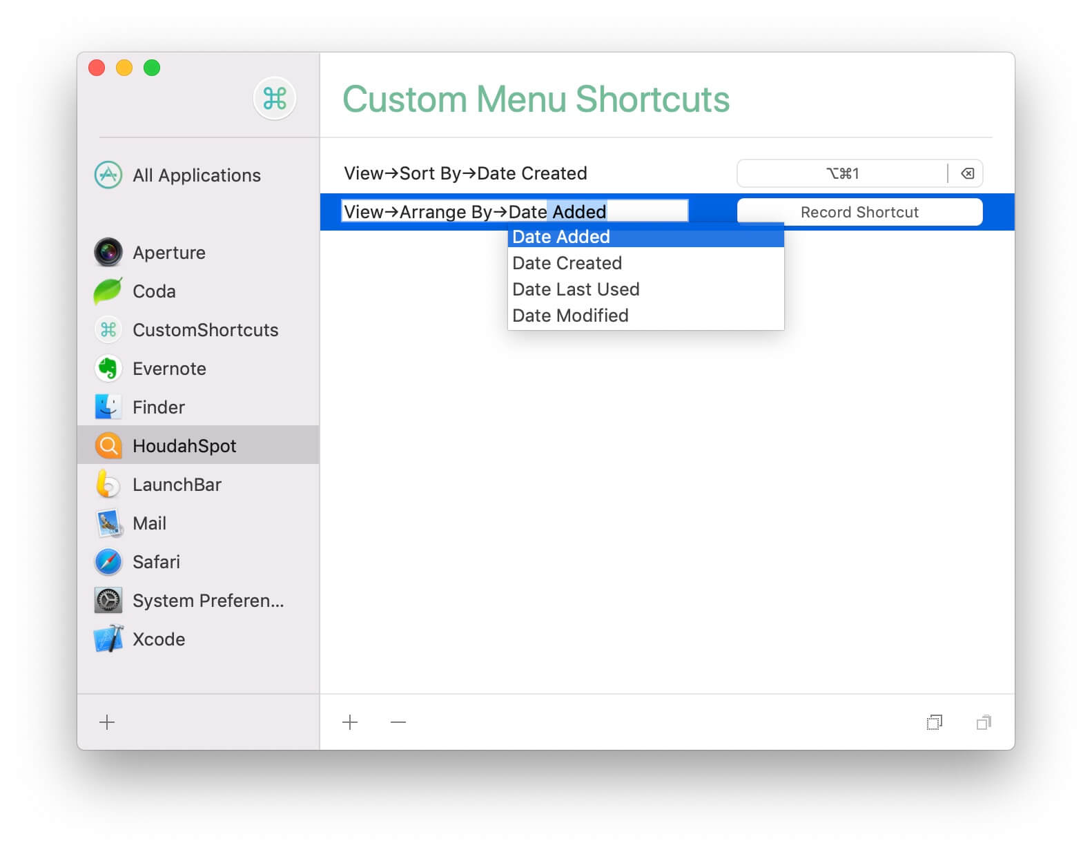 CustomShortcuts