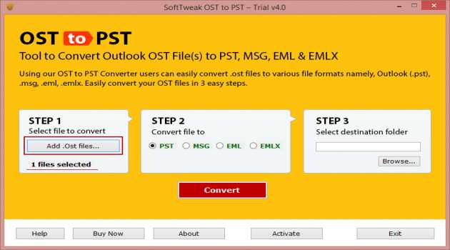 Export OST to PST