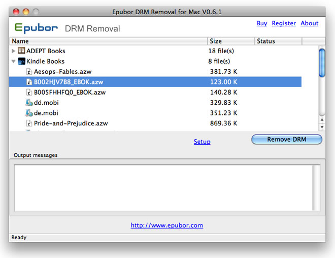 Epubor All DRM Removal for Mac