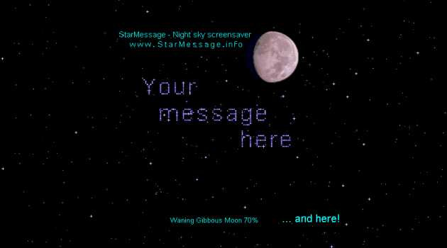 StarMessage Moon Phases screensaver