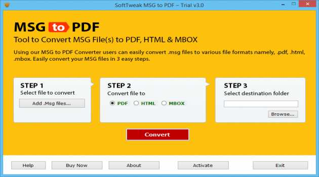 Converting MSG to PDF format