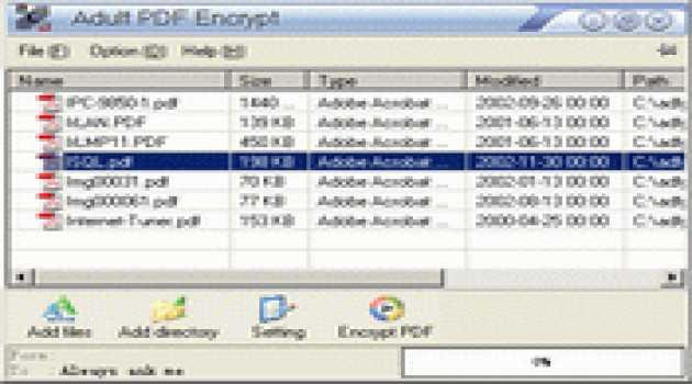 PDF Encrypt COM/SDK
