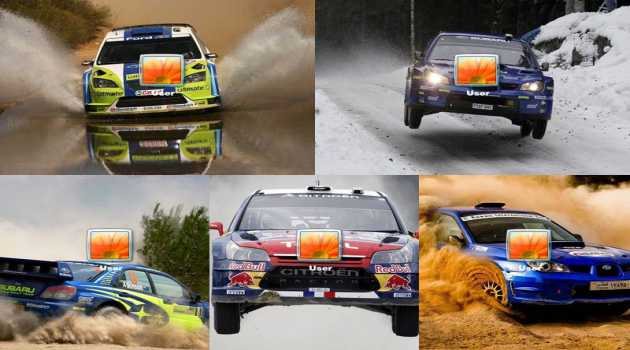 World Rally Championship Logon Screen