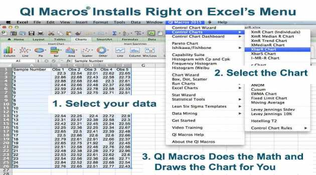 QI Macros SPC Software for Excel