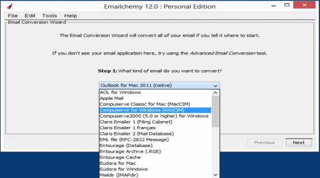 Emailchemy for Windows