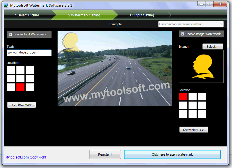 Mytoolsoft Watermark Software