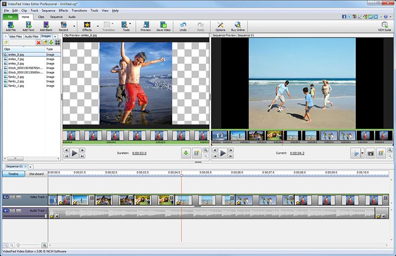 VideoPad Free Movie and Video Editor