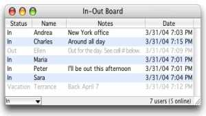In-Out Board Mac