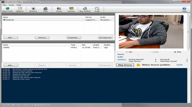 BroadCam Video Streaming Server Pro