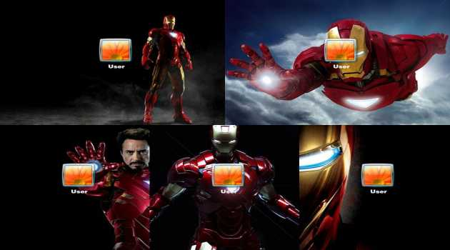 Iron Man Logon Screen