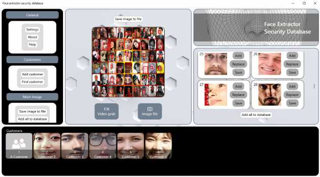 Face extractor security database