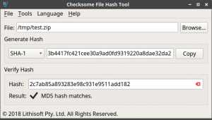 Checksome File Hash Tool for Linux