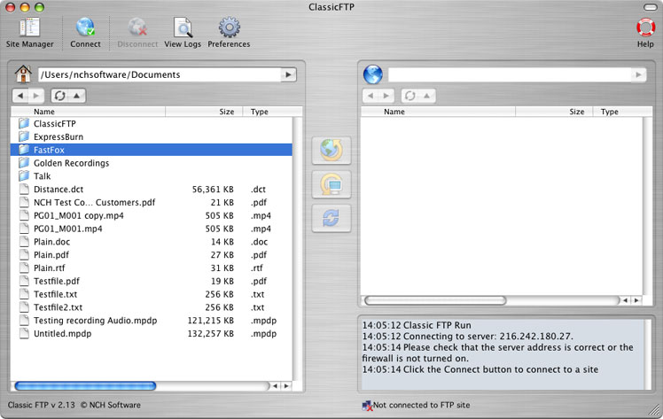 Classic FTP Free Mac FTP Software
