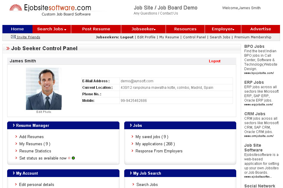 Ejobsitesoftware.com Job Board Software