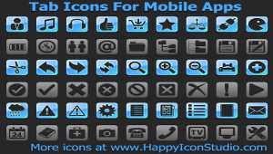 Tab Icons For Mobile Apps