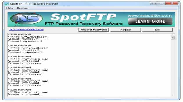 SpotFTP Password Recover