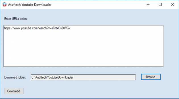 Asoftech Youtube Downloader