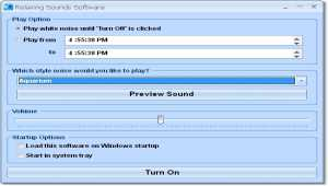 Relaxing Sounds Software