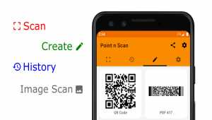 Point n Scan Create QR, barcode, EAN,