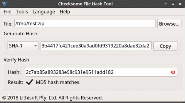 Checksome File Hash Tool
