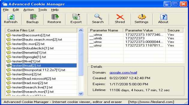 Advanced Cookie Manager