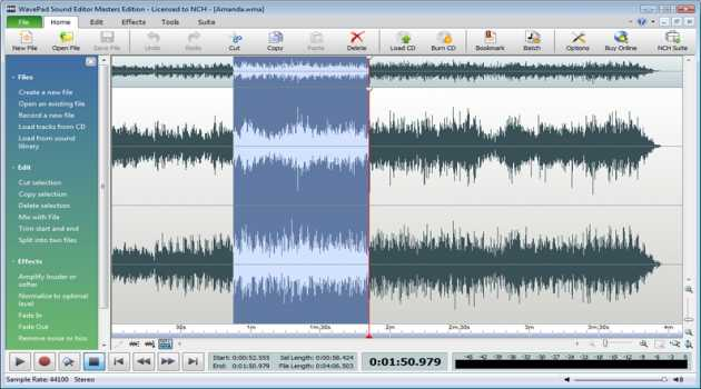 Wavepad Free Audio and Music Editor