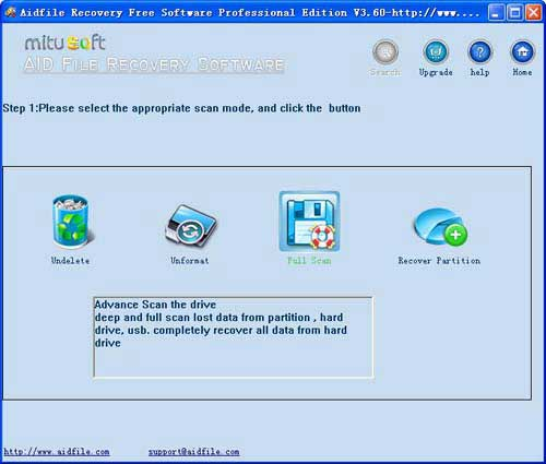 Aidfile free data recovery software