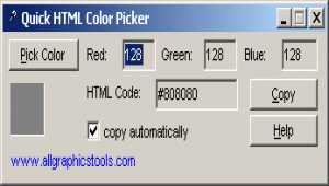Quick HTML Color Picker