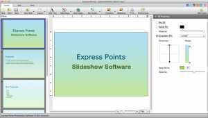 Express Points Presentation for Mac